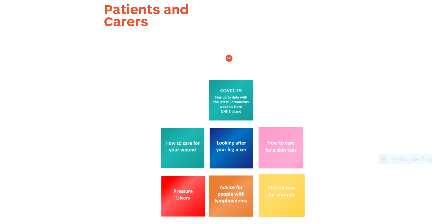 Patients and carers screen slide